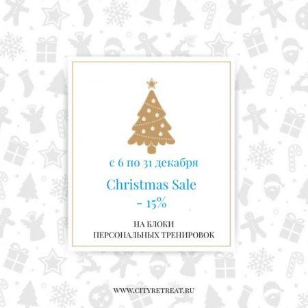 Christmas Sale – 15% на блоки персональных тренировок!